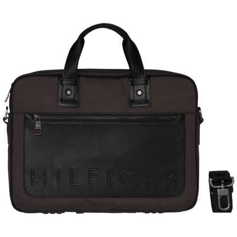 Tommy Hilfiger Handtasche »TH METROPOLITAN COMPUTER BAG« in Grey Mix