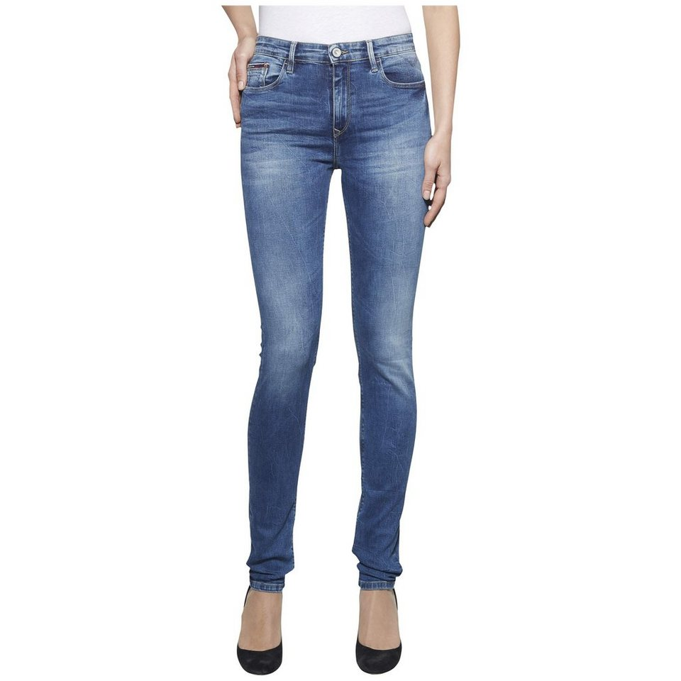 Hilfiger Denim Jeans »HIGH RISE SKINNY SANTANA RYBST« in ROYAL BLUE STRETCH