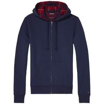 Tommy Hilfiger Kapuzenjacke »Fleece flannel hoody« in PEACOAT-EUR