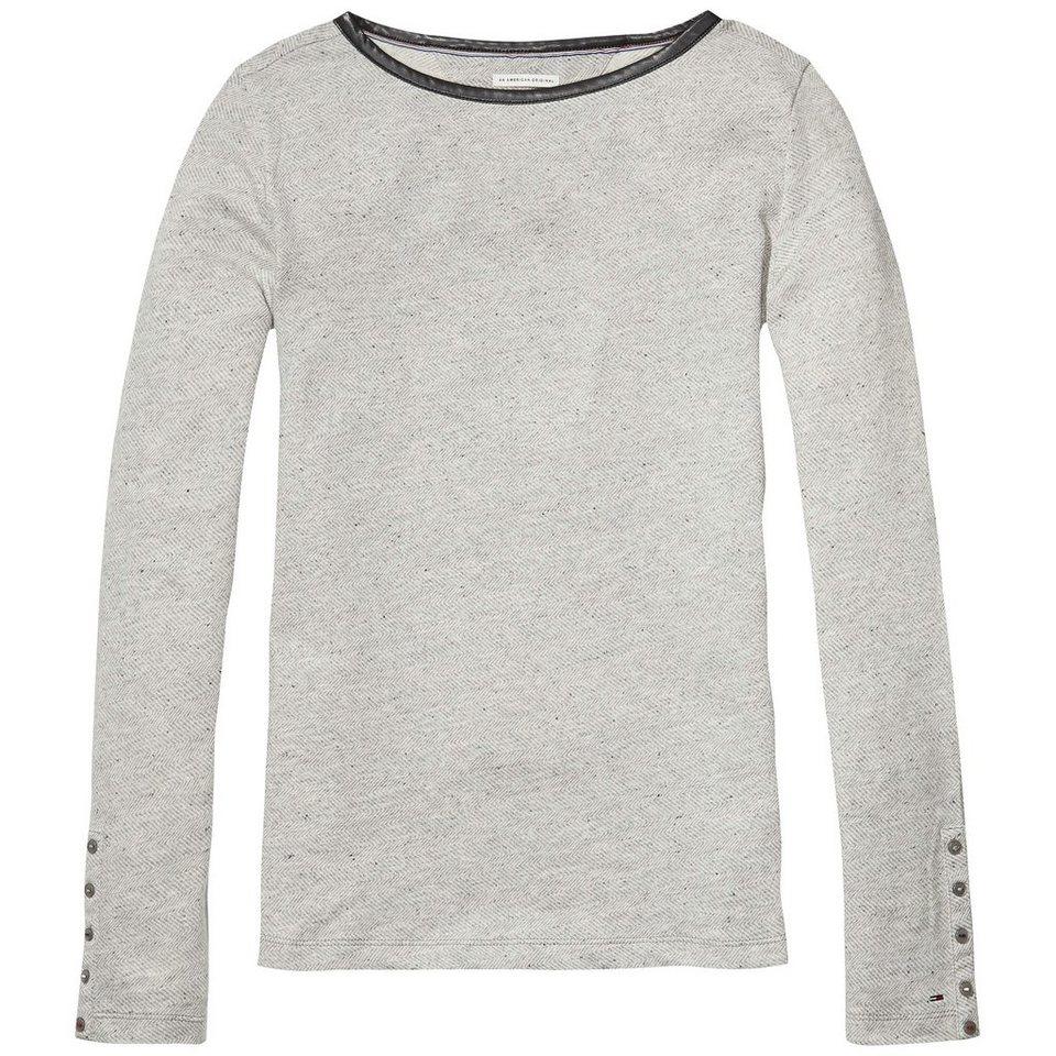Hilfiger Denim Sweatshirt »THDW BN LT KNIT L/S 15« in Lt grey htr