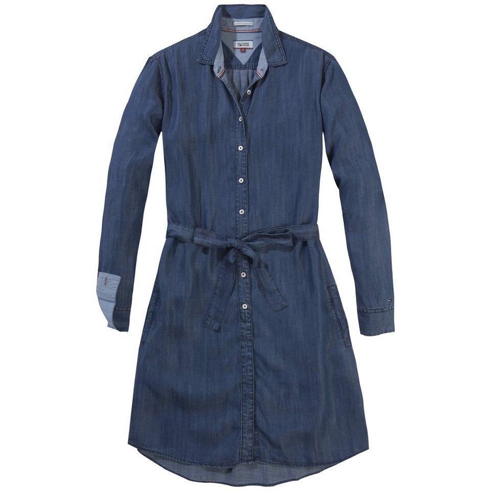 Hilfiger Denim Kleid »THDW BASIC SHIRT L/S DRESS 21 SOID« in SOFT INDIGO DARK