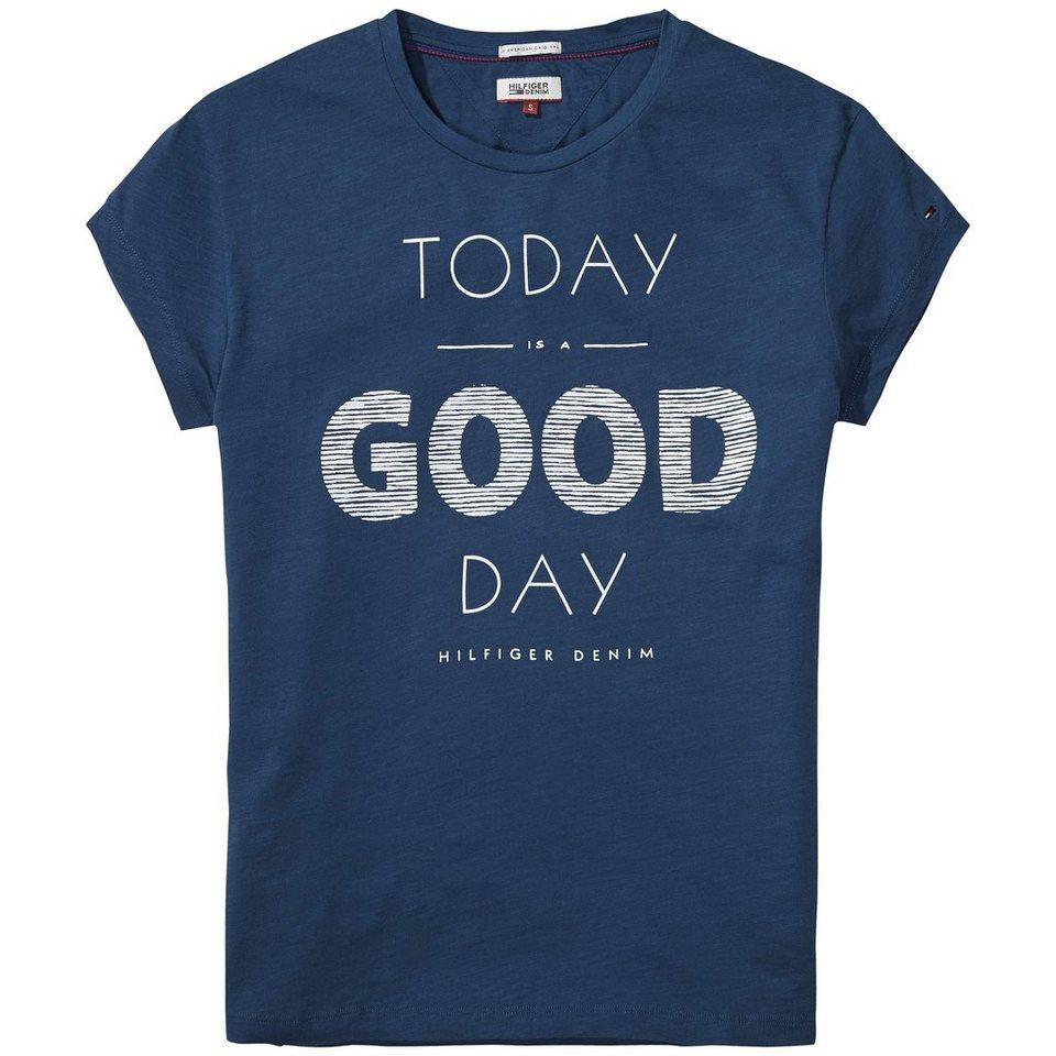 Hilfiger Denim T-Shirt (mit Arm) »THDW CN T-SHIRT S/S 16« in Majolica Blue