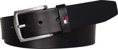 Tommy Hilfiger Ledergürtel Robuster Ledergürtel mit Flag-Label
