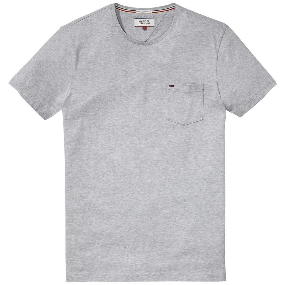 Hilfiger Denim T-Shirt (kurzarm) »THDM BASIC CN KNIT S/S 1« in Lt grey htr