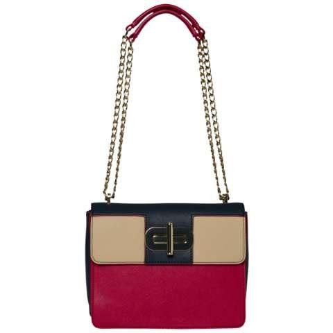 Tommy Hilfiger Handtasche »TURN LOCK CROSSOVER COLOURBLOCK«