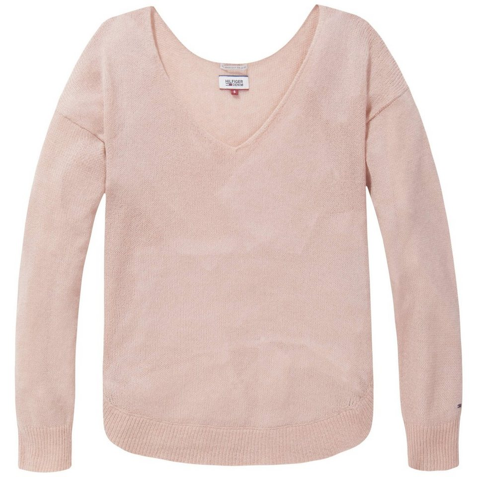 Hilfiger Denim Pullover »THDW VNK SWEATER L/S 11« in Mahogany Rose