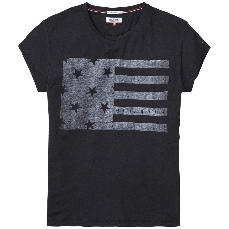 Hilfiger Denim T-Shirt (mit Arm) »THDW BASIC CN T-SHIRT S/S 4« in Tommy Black