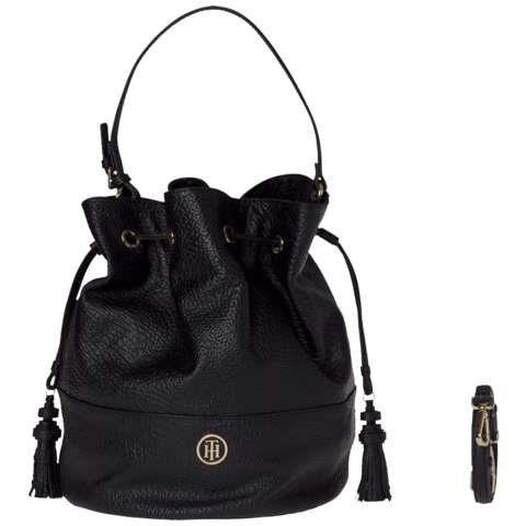 Tommy Hilfiger Handtasche »TOMMY BUCKET SHRUNKEN« in Black