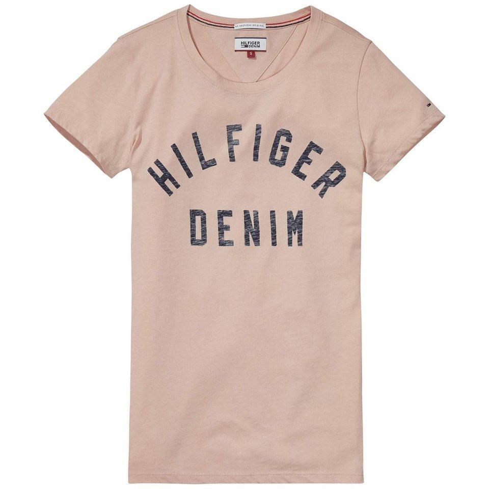 Hilfiger Denim T-Shirt (mit Arm) »THDW BASIC CN T-SHIRT S/S 1« in Mahogany Rose