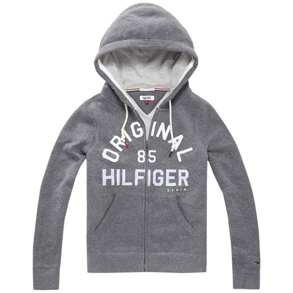 Hilfiger Denim Sweatshirt »THDW BASIC GRAPHIC ZIP HOODY L/S 2« in Dark grey htr