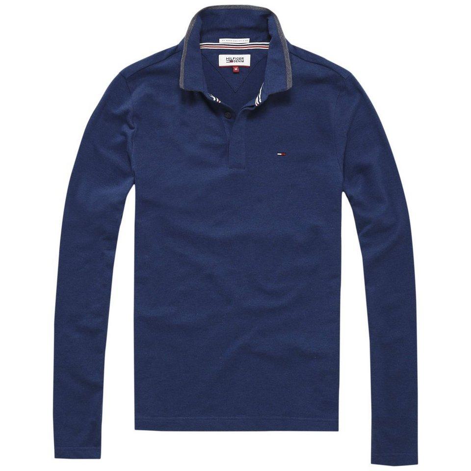 Hilfiger Denim Poloshirt »THDM POLO L/S 6« in Black Iris htr