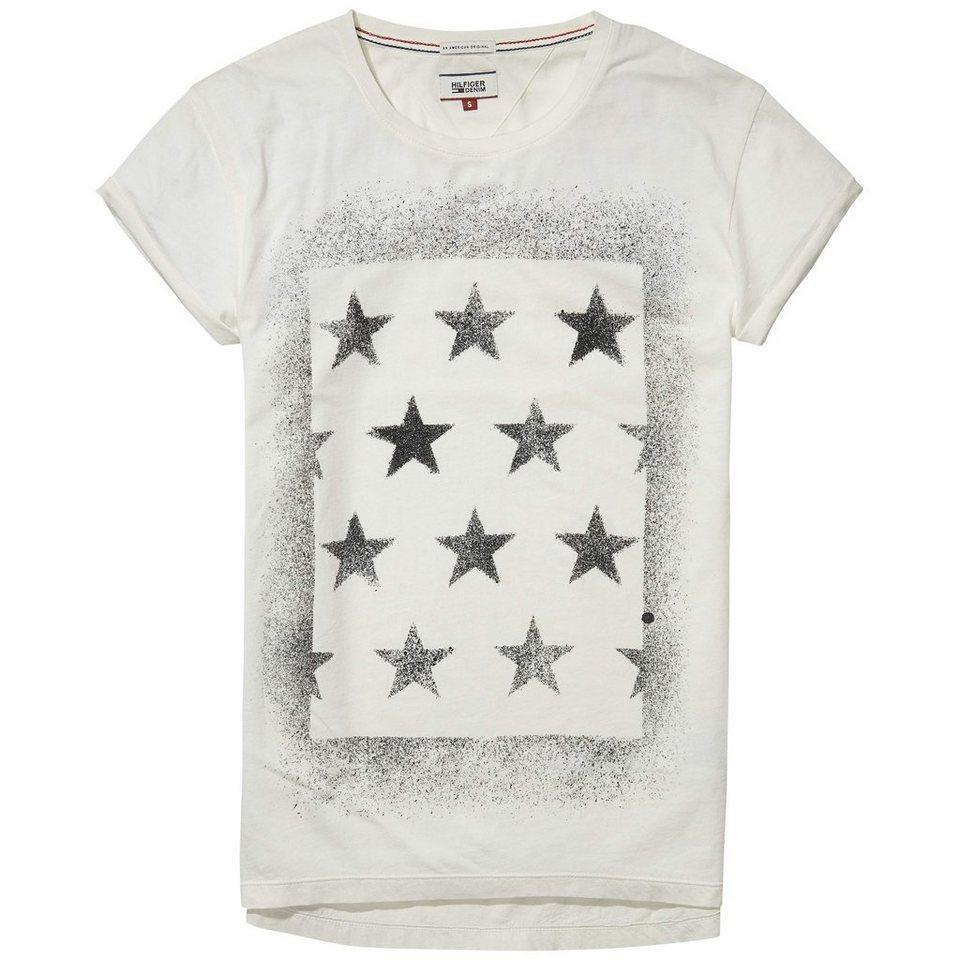 Hilfiger Denim T-Shirt (mit Arm) »THDW CN T-SHIRT S/S 6« in Egret