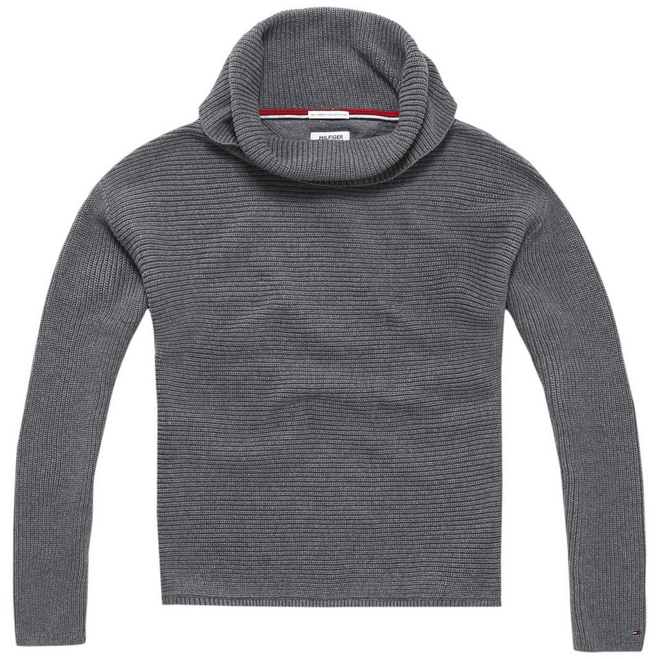 Hilfiger Denim Pullover »THDW BASIC RN SWEATER L/S 5« in Mid grey htr sweater
