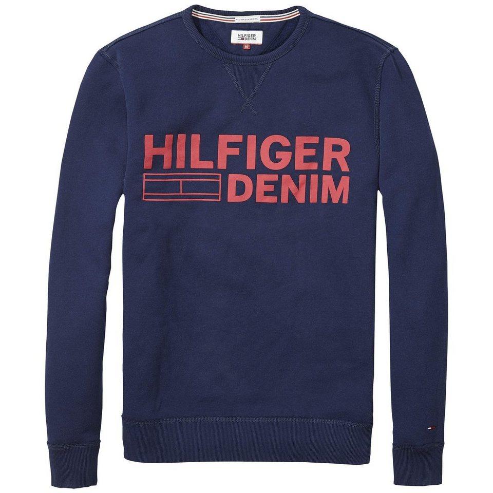 Hilfiger Denim Sweatshirt »THDM BASIC CN HKNIT L/S 33« in BLACK IRIS