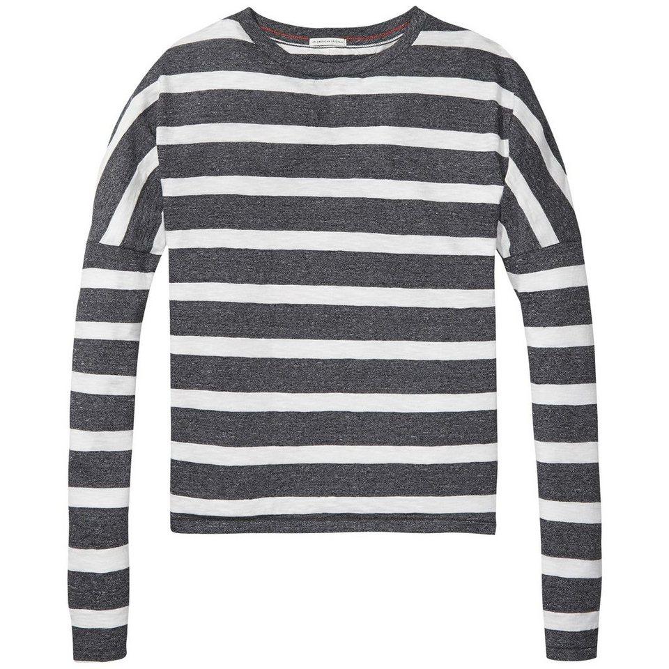 Hilfiger Denim Sweatshirt »THDW BASIC STP CN LT KNIT L/S 25« in MID GRY HTR / EGRET