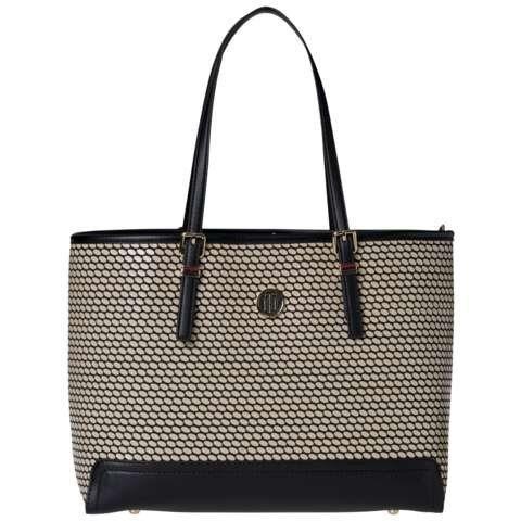 Tommy Hilfiger Handtasche »HONEY MED TOTE SPOT« in Natural / Black