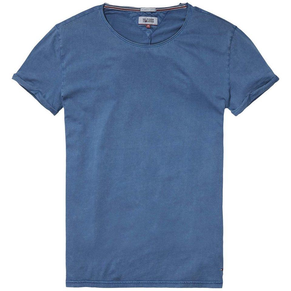 Hilfiger Denim T-Shirt (kurzarm) »THDM BASIC CN KNIT S/S 3« in Blue Wing Teal
