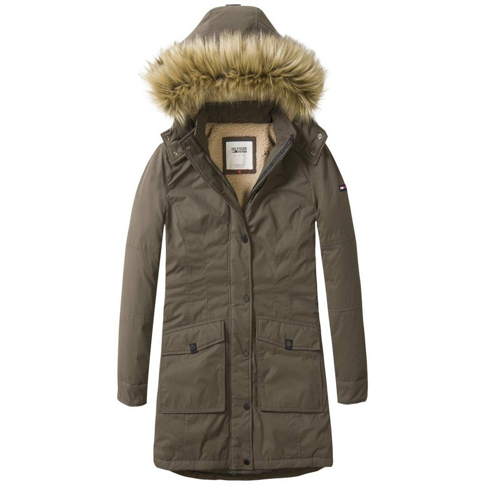 Hilfiger Denim Jacke »THDW BASIC DOWN PARKA 5« in Black Olive