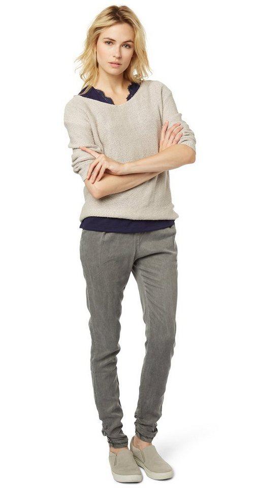 TOM TAILOR Hose »feminine loose fit pants« in smoked pearl grey