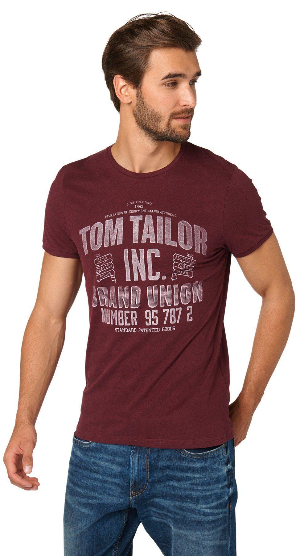 TOM TAILOR T-Shirt »T-Shirt mit TOM TAILOR Print«