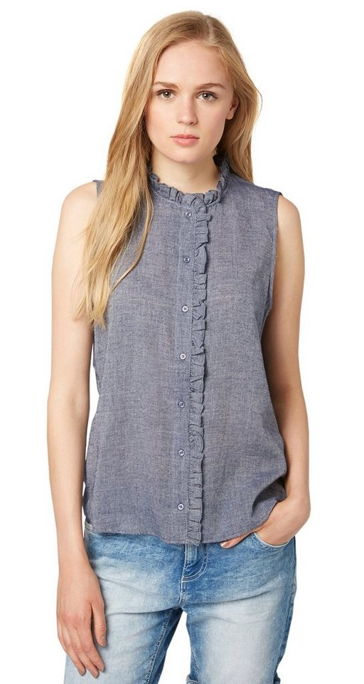 TOM TAILOR DENIM Bluse »blouse top with ruffle details« in original