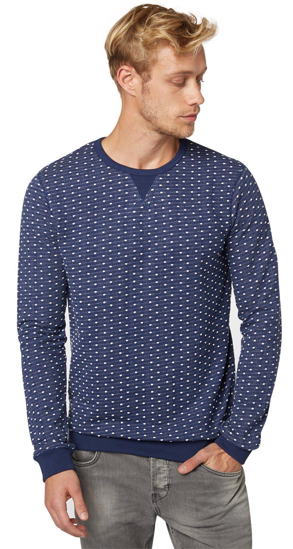TOM TAILOR DENIM Sweatshirt »strukturierter Sweater«