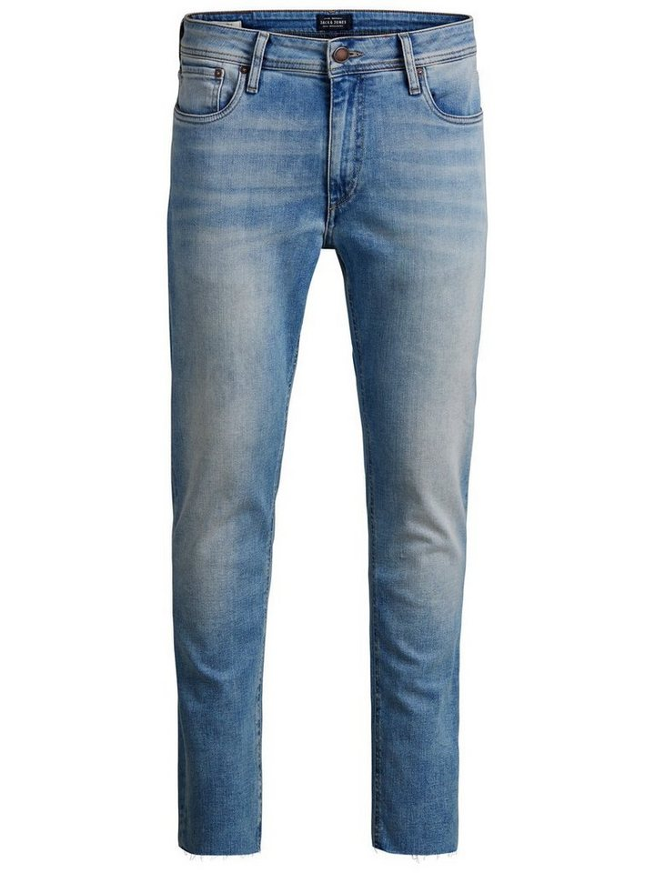 Jack & Jones Ben Original Cropped Jos 096 Skinny Fit Jeans in Blue Denim