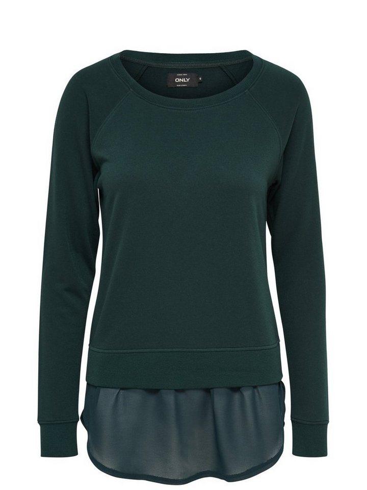 Only Detailliertes Sweatshirt in Scarab