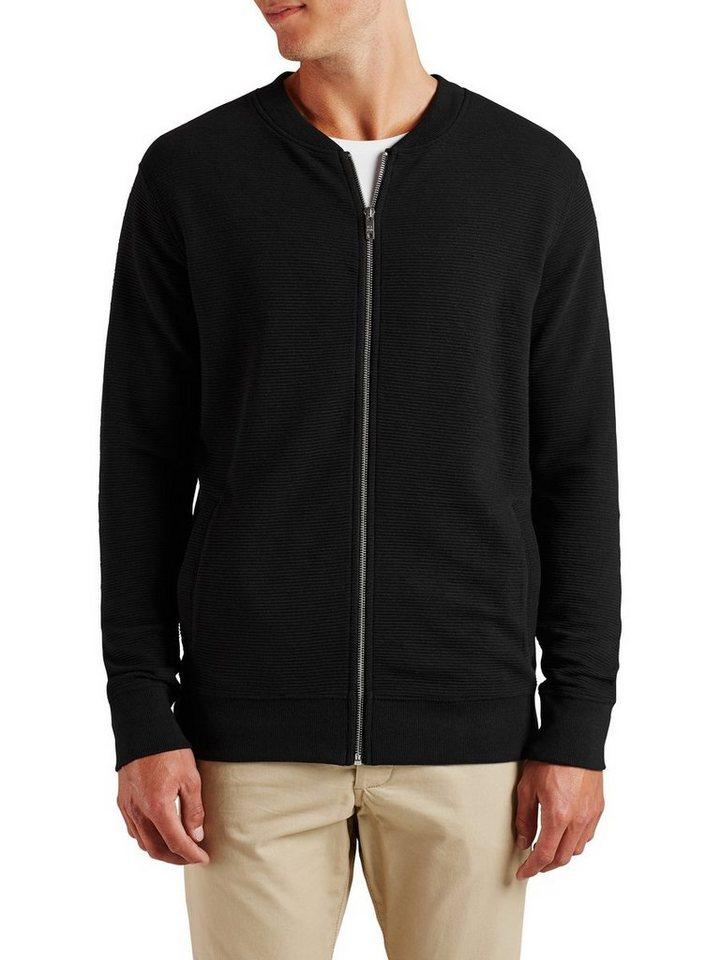 Jack & Jones Baseball- Sweatshirt mit Reißverschluss in Black