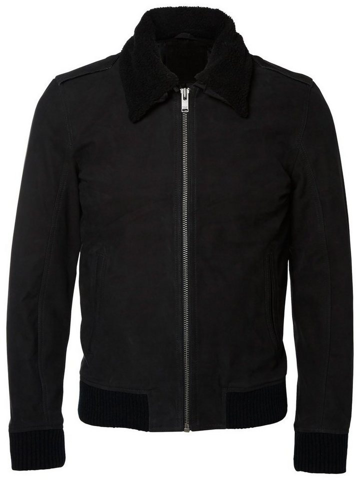 Selected Lamm- Lederjacke in Black