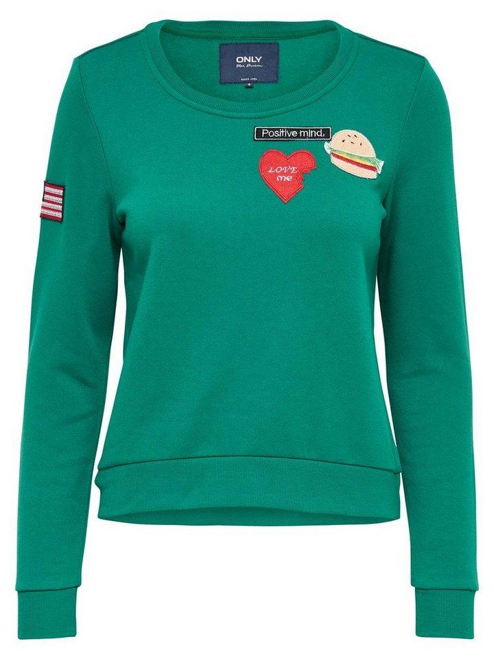 Only Patch- Sweatshirt in Ultramarine Green