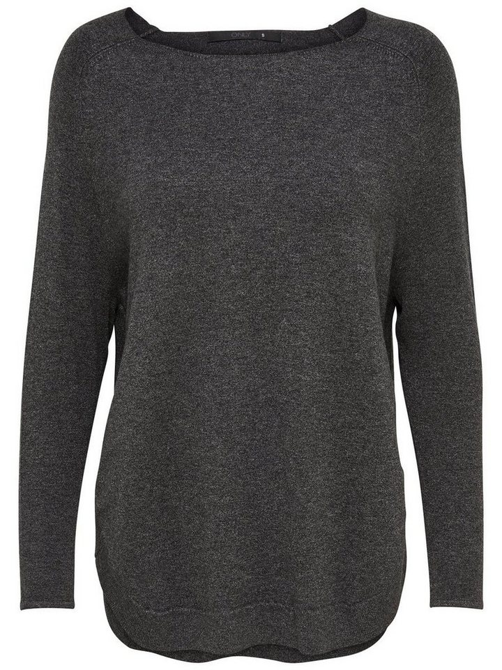 Only Oversize- Strickpullover in Dark Grey Melange