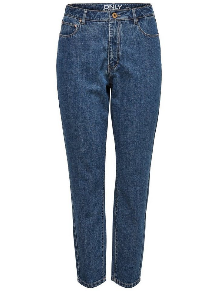 Only Smila Mom Ankle Anti Fit Jeans in Medium Blue Denim