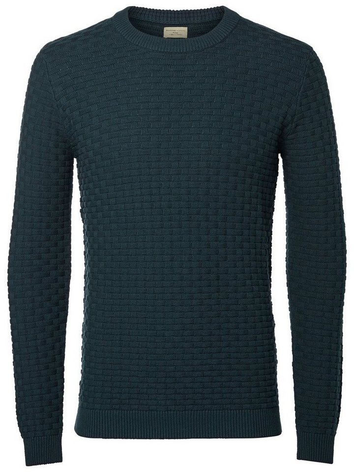 Selected Crew-Neck- Strickpullover in Green Gables