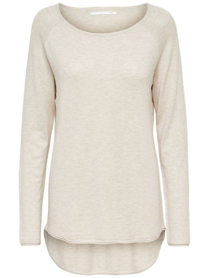 Only Lang Strickpullover in Oatmeal