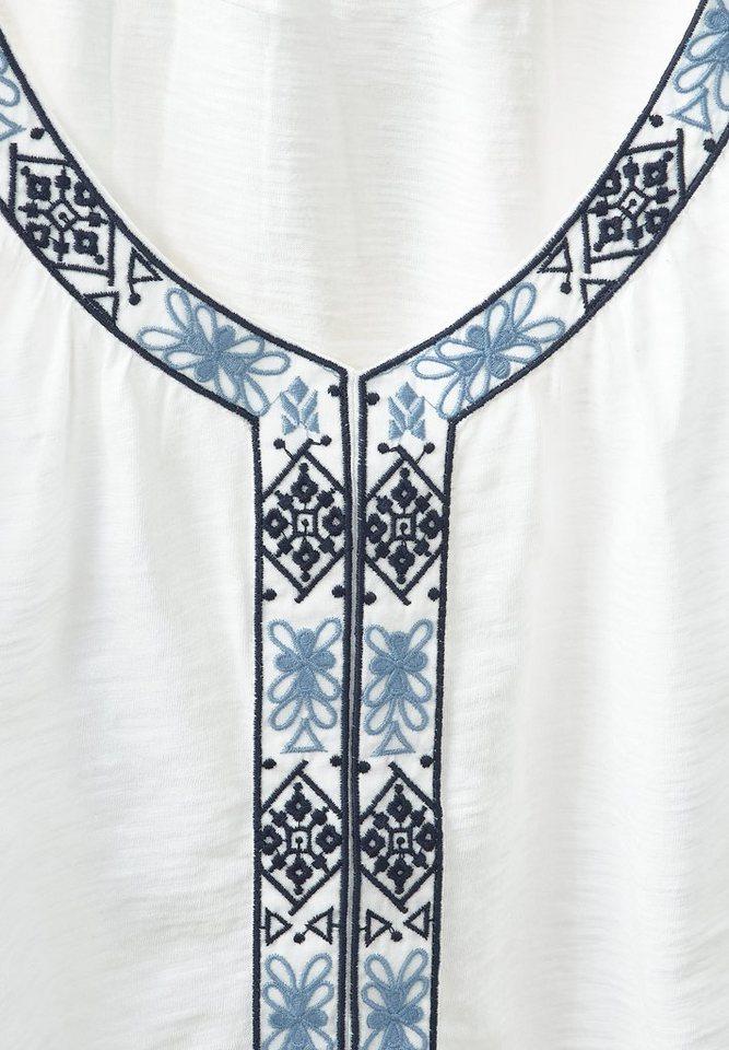 Street One Folkloristik-Shirt Luna in off white