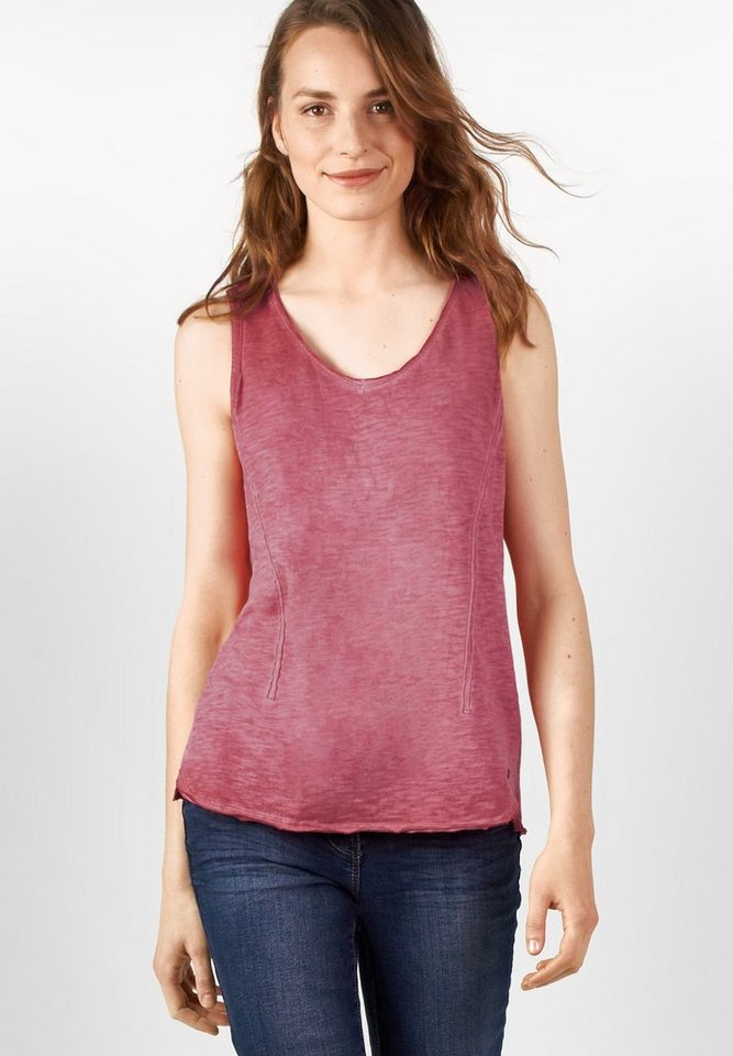CECIL Individuelles Shirttop in crimson red