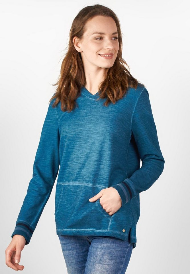 CECIL Langarm College-Hoodyshirt in celestial blue