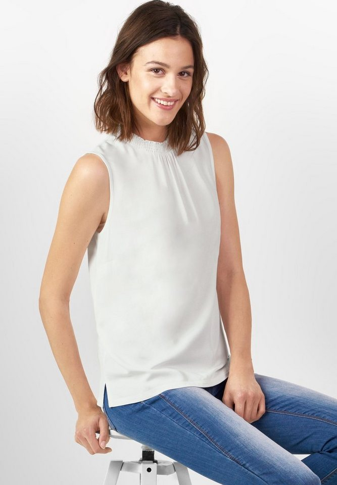Street One Shirttop mit Rüsche Fylla in off white