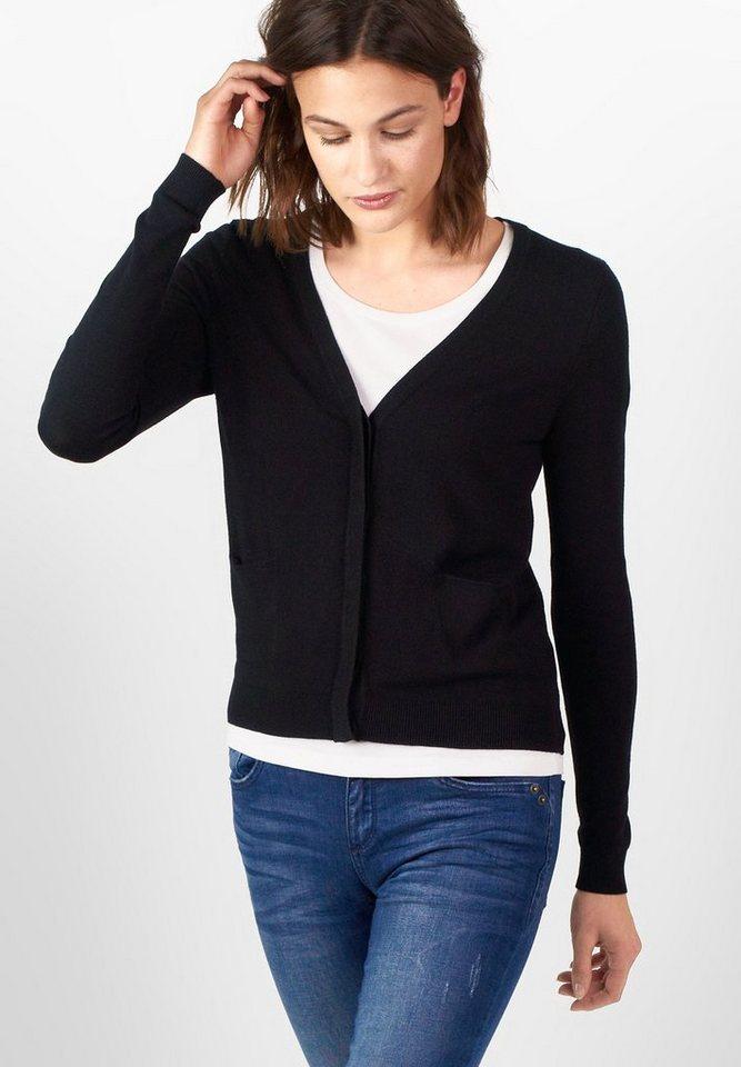 Street One V-Neck Basic-Cardigan Liz in Black