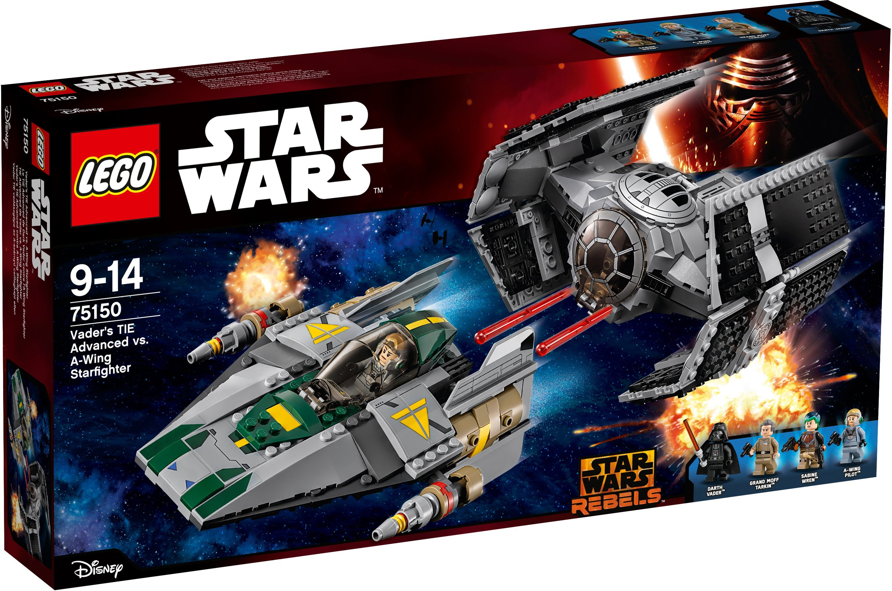 LEGO® Vader's TIE Advanced vs. A-Wing Starfighter (75150), »LEGO® Star Wars™«