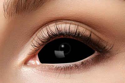 Eyecatcher Farblinsen »Sclera 22mm schwarz. Zombie Kontaktlinsen. 6 Monatslinsen«