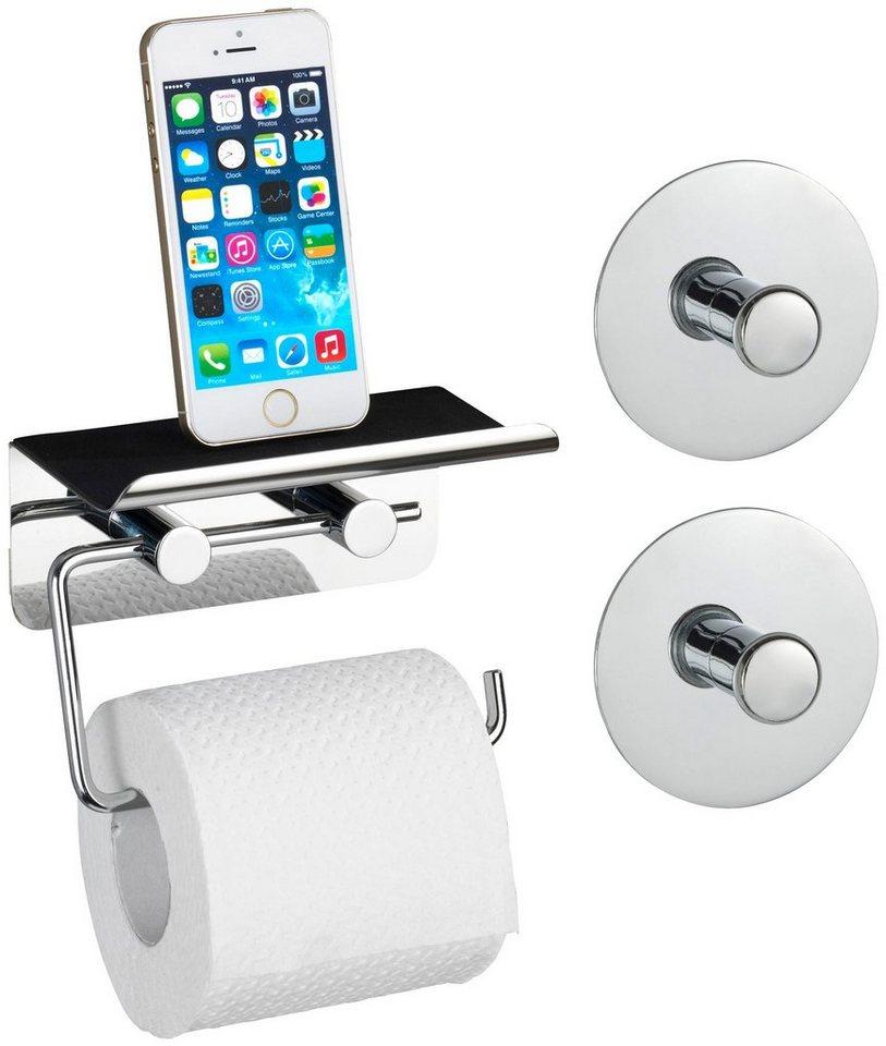 toilettenpapierhalter mit smartphone ablage otto. Black Bedroom Furniture Sets. Home Design Ideas