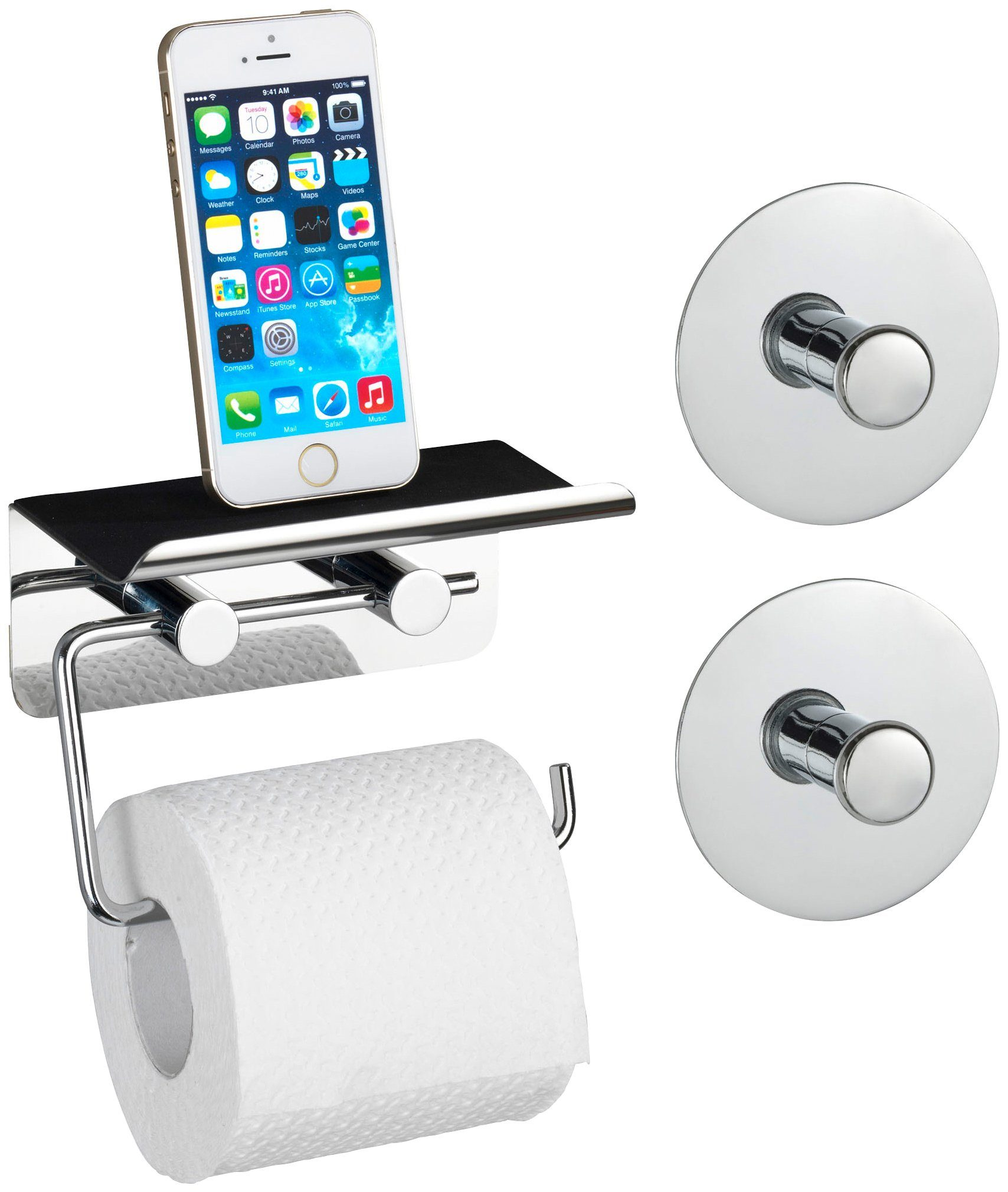 Toilettenpapierhalter »Mit Smartphone-Ablage«