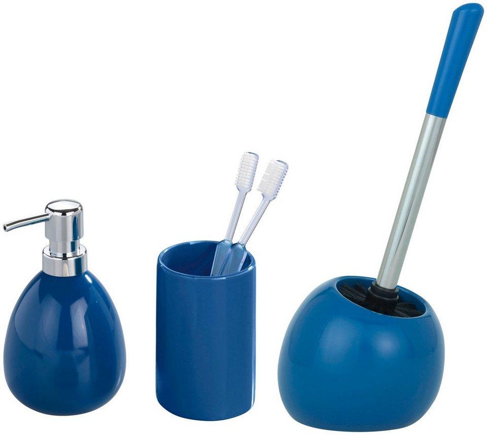 Bad-Accessoire-Set »Polaris«, 3-teilig in blau
