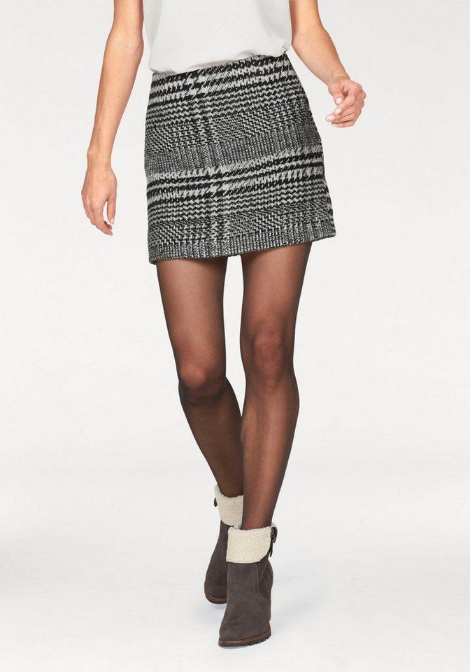 Aniston Karorock mit Wollanteil in schwarz-weiß