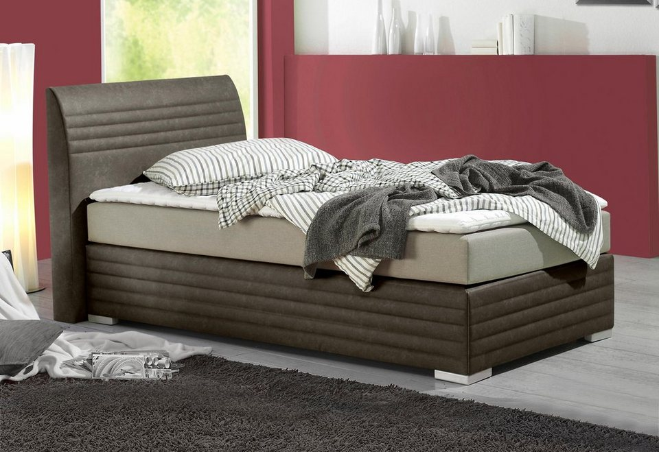 Maintal Boxspringbett inkl. Kaltschaum-Topper in braun