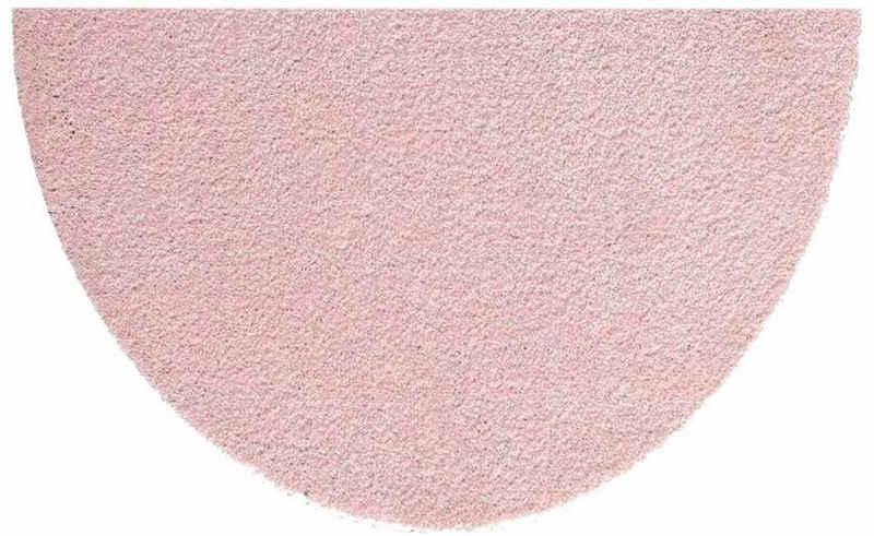 Fußmatte »Deko Soft«, HANSE Home, halbrund, Höhe 7 mm, Schmutzfangmatte, saugfähig, waschbar