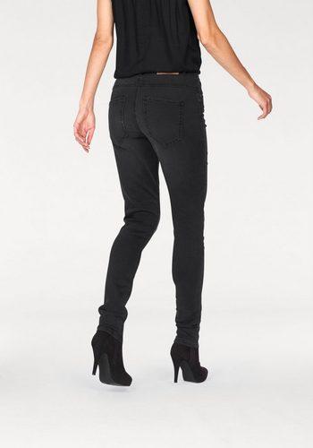 Damen Aniston by BAUR Röhrenjeans aus Sweatware in Denimoptik schwarz | 06928803616065