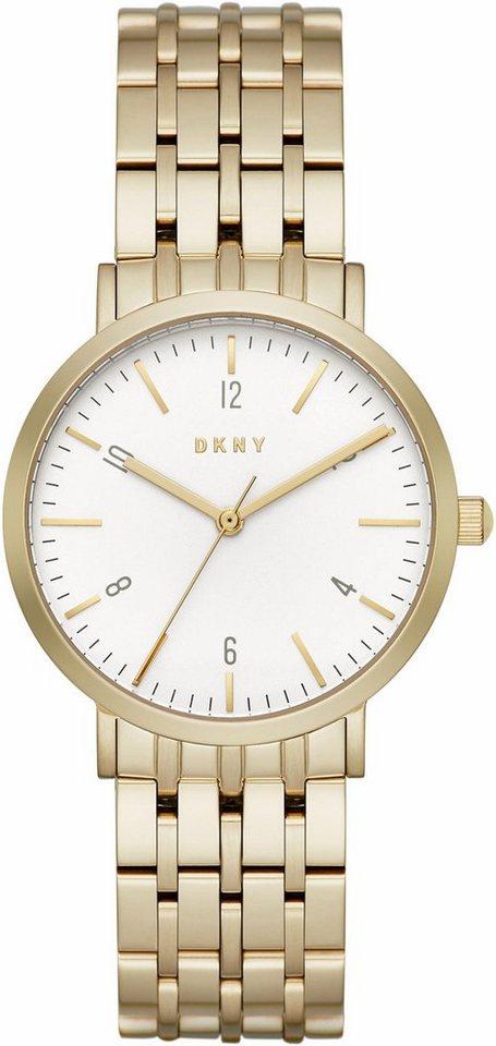 DKNY Quarzuhr »MINETTA, NY2503« in goldfarben